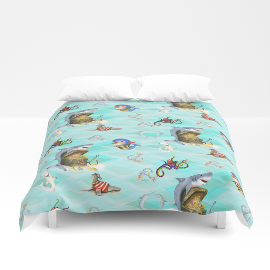 sharks-treasure-duvet-covers
