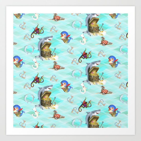 sharks-treasure-prints